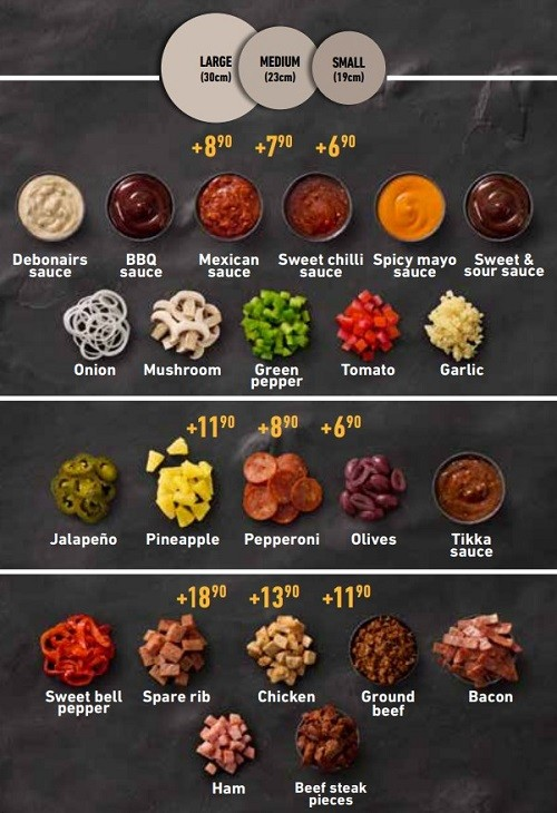 Extra Toppings You Can Add On Your Debonairs Pizza