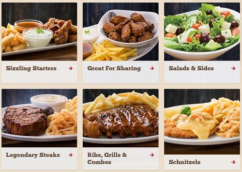 Sample Of The Food Availabel At Spur Steak Ranches
