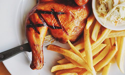 Flame Grilled Chicken On The Menu At Galitos
