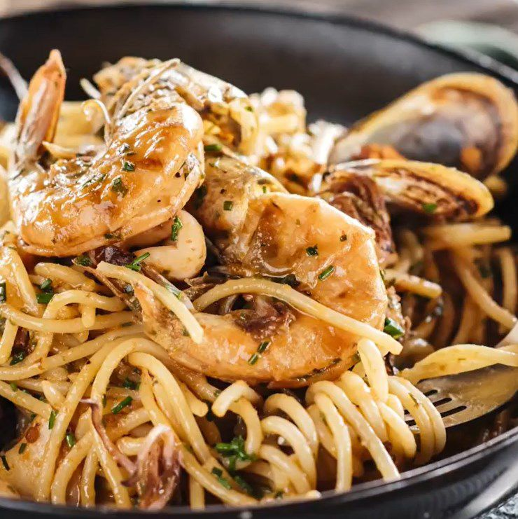 Seafood Style Pasta Dish On The Menu